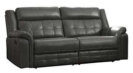 Amazon.com: Homelegance Keridge 85u201c Reclining Sofa, Gray: Kitchen