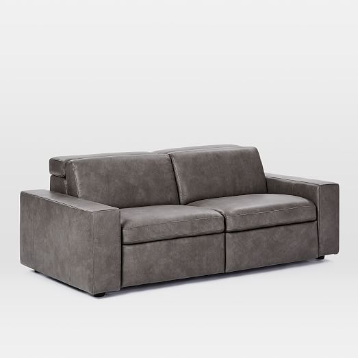 Enzo Leather Reclining Sofa (76