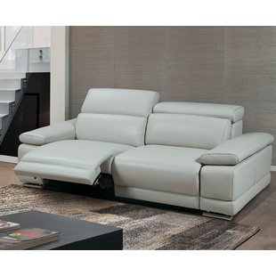 Grey Reclining Leather Sofas You'll Love | Wayfair