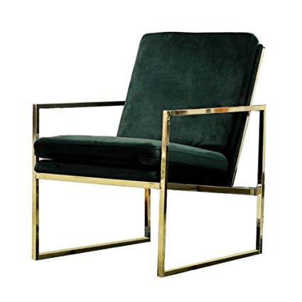 Amazon.com: Mr.do Velvet Armchair Dark Green Single Lounge Chair