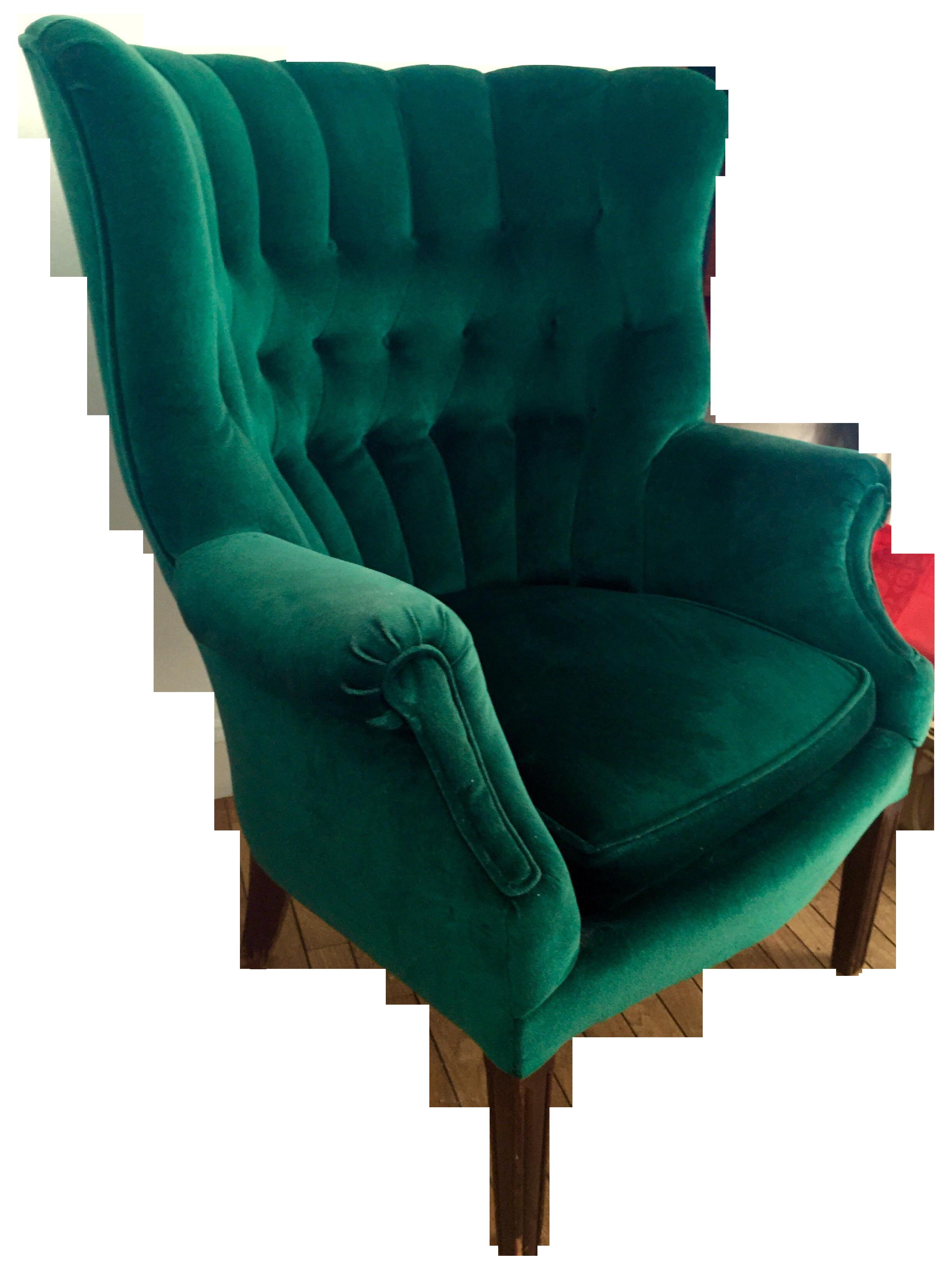 Vintage Emerald Green Armchair | Chairish