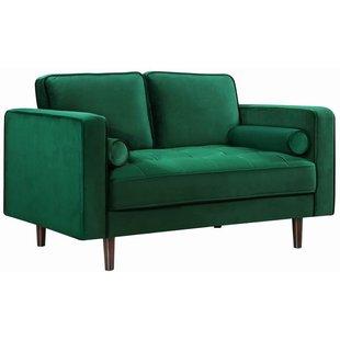 Emerald Green Velvet Loveseat | Wayfair