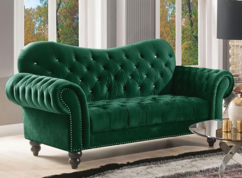 ACME Iberis Green Velvet Loveseat - Iberis Collection: 5 Reviews
