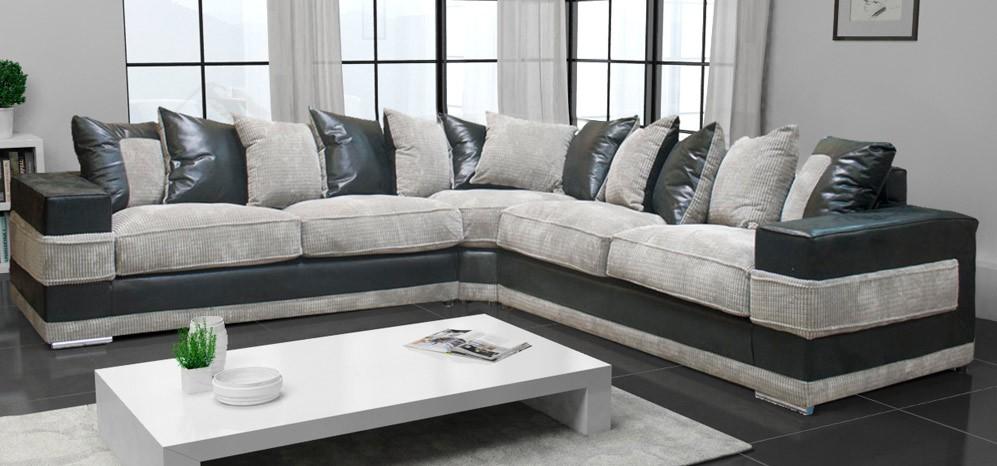 Contemporary Black And Grey Corner Sofa kudos corner - Home Design
