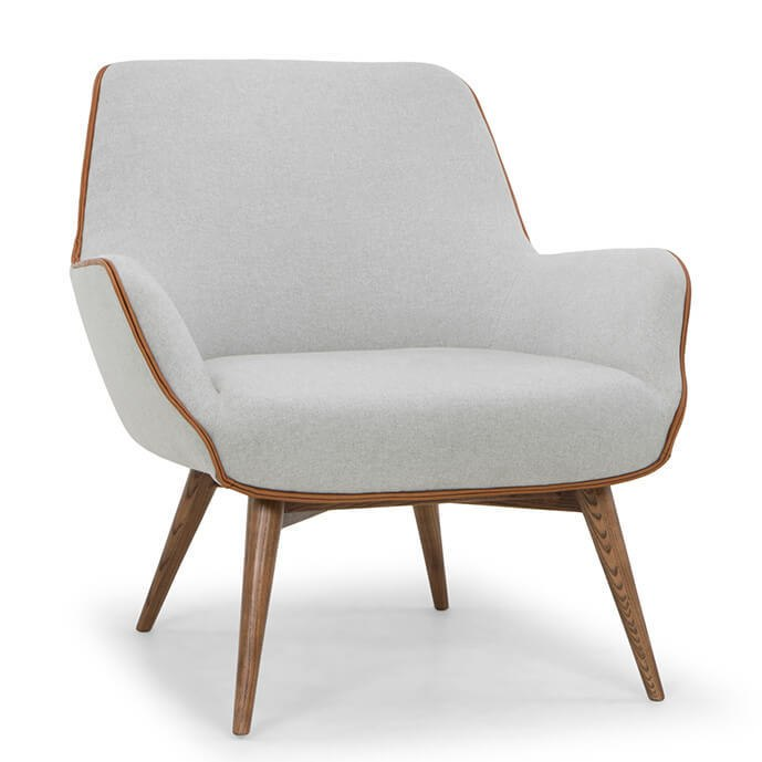 Gretchen Modern Occasional Chair Grey/Caramel