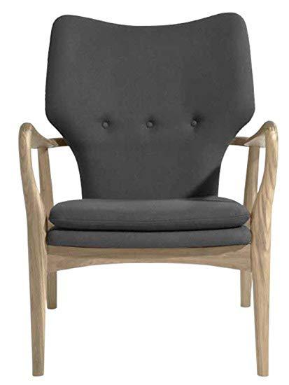 Amazon.com: Patrik Occasional Chair in Grey Fabric by Nuevo