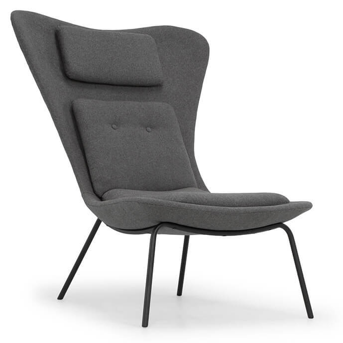 Barlow Modern Occasional Chair Grey