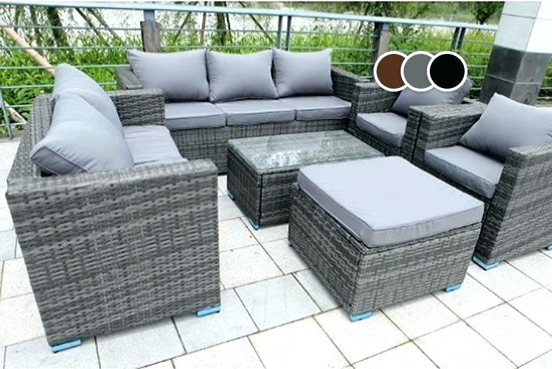 Grey Rattan Outdoor Furniture New Style Grey Wicker Outdoor