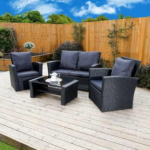 High Back Rattan Sofa Set | Wayfair.co.uk