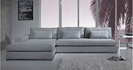 Amazon.com: Light Grey Fabric Sectional Sofa: Kitchen & Dining