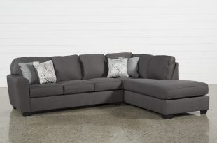 Mcdade Graphite 2 Piece Sectional W/Raf Chaise | Living Spaces