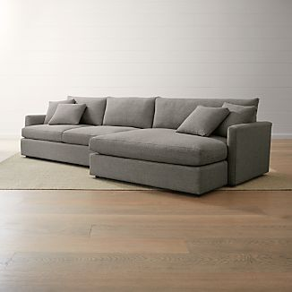 Grey Sectional Sofas | Crate and Barrel