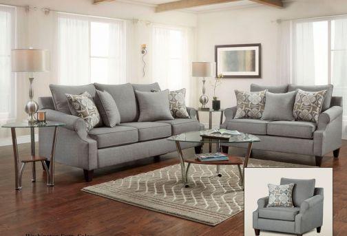 2 Pc. Tibbee Slate Sofa & Loveseat Set | 99101 | Ashley