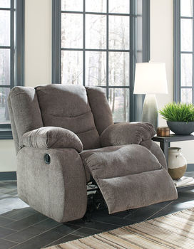 Ashley Tulen Gray Reclining Sofa & Reclining Loveseat on sale at the