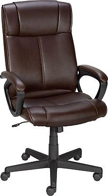 Staples® Turcotte Luxura® High Back Office Chair, Brown | Staples
