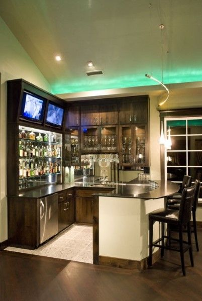 Top 40 Best Home Bar Designs And Ideas For Men | For the Home | Bars