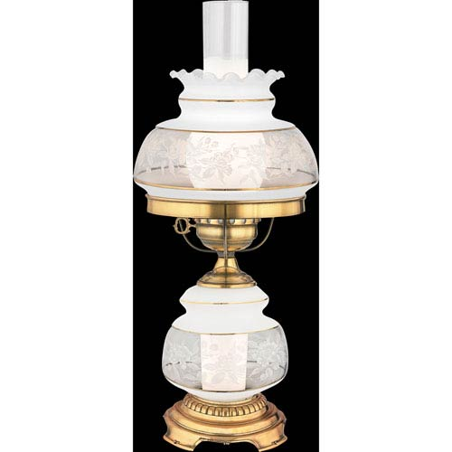 Quoizel Satin Lace Small Hurricane Lamp Sl701g | Bellacor