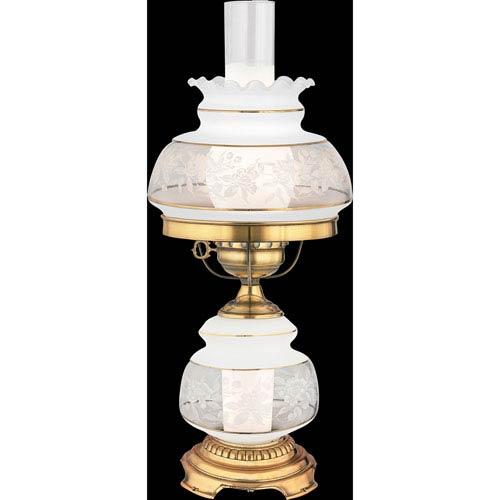 Quoizel Satin Lace Small Hurricane Lamp Sl701g | Bellacor