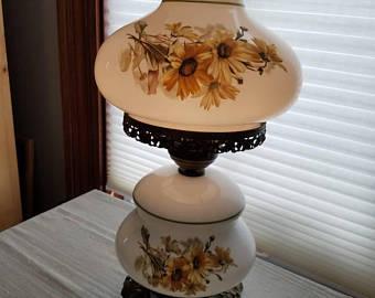 Glass hurricane lamp | Etsy