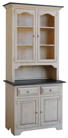 Colonial Pine 2 Door Hutch - 2 Door Hutches - Kloter Farms