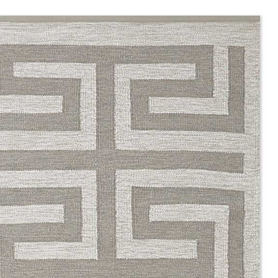 Perennials® Greek Key Indoor/Outdoor Rug, Flax | Williams Sonoma
