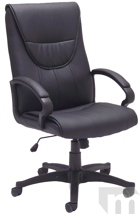 Black Leather Conference Chair-In Stock! Free Shipping!