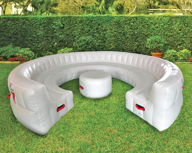 Giant Inflatable Outdoor Circular Couch Fits Up To 30 People