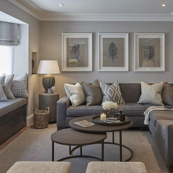 30 Elegant Living Room Colour Schemes | Paint Ideas | Wohnzimmer