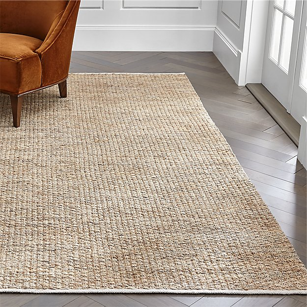 Nievs Woven Jute Rug 6'x9' + Reviews | Crate and Barrel