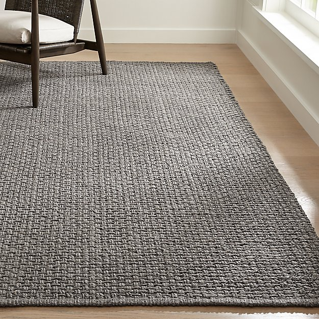 Keeler Grey Jute Rug | Crate and Barrel