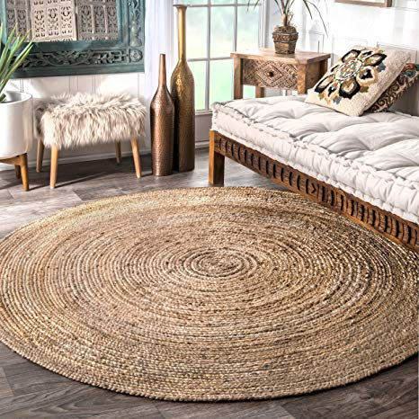 Amazon.com: nuLOOM Hand Woven Casual Jute Braided Area Rug, Natural
