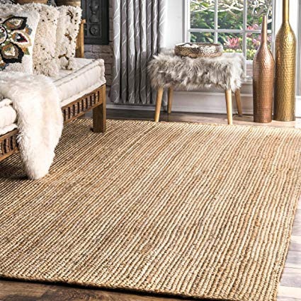 Amazon.com: Casuals Natural Fibers 8' x 10' Natural Hand Woven Area