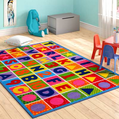 Zoomie Kids Fornax Numbers and Letters Kids Area Rug & Reviews | Wayfair