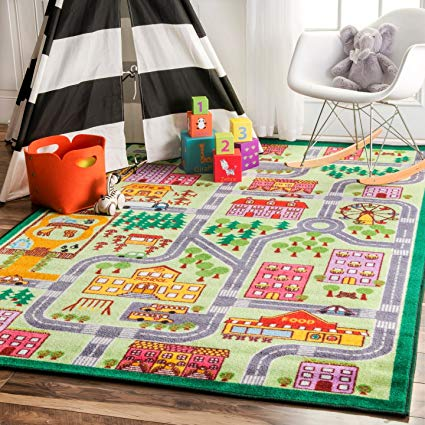Amazon.com: nuLOOM Nursery City Neighborhood Kids Area Rugs, 5' x 7
