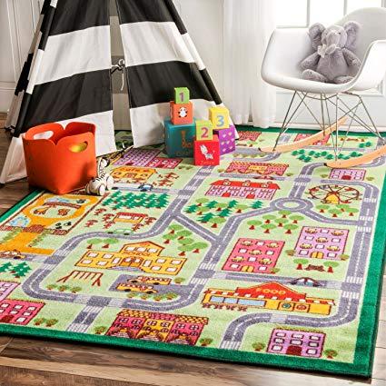 Amazon.com: nuLOOM Nursery City Neighborhood Kids Area Rugs, 5' x 7