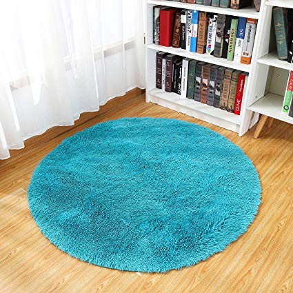 Amazon.com: Junovo Round Fluffy Soft Area Rugs for Kids Room