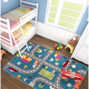 Kids Play Rug With Roads | Wayfair