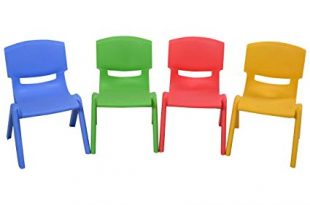 Amazon.com: Costzon Kids Chairs, Stackable Plastic Learn and Play