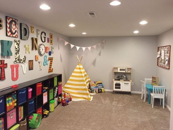 17 Adorable and Cheerful Kids Playroom Ideas - mybabydoo