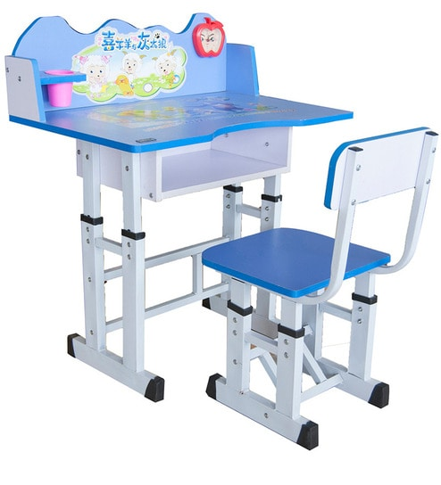 Buy Kids Study Table & Chair in Blue Colour by Parin Online - Study