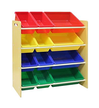 Amazon.com: Pidoko Kids Toy Storage Organizer | Wooden Children's