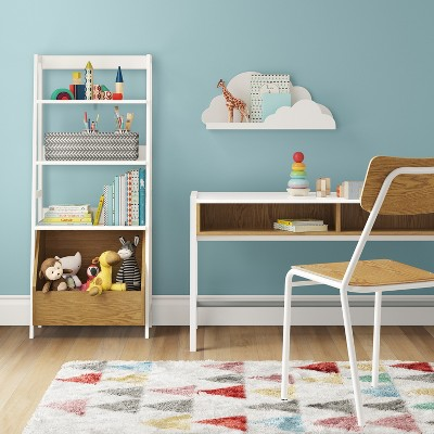 Bly Kids Bookshelf With Toy Storage Bin White - Pillowfort™ : Target