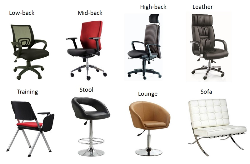 Types Of Chairs Types Of Chairs 8 Office 3d Oknws - Infinity Houses