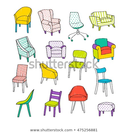 Vector Illustration Different Kinds Chairs Hand Stock Vector