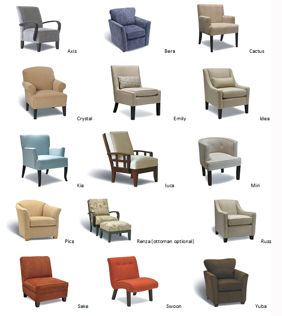 12 Types of Chairs for Your Different Rooms | Different Types of