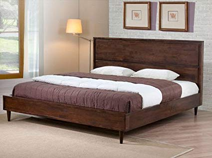 Amazon.com: Vilas Modern King Size Solid Wood Platform Bed Frame