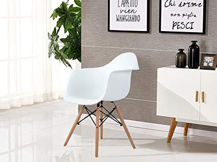 Amazon.com: Aingoo Eiffel Kitchen Chair Set with Table Molded Dining