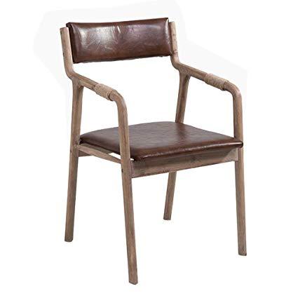 Amazon.com - Retro Wooden Dining Chair Hemp Rope Armchair Soft