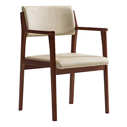 Amazon.com - Solid Wood Dining Chairs Fabric Backrest Armchair