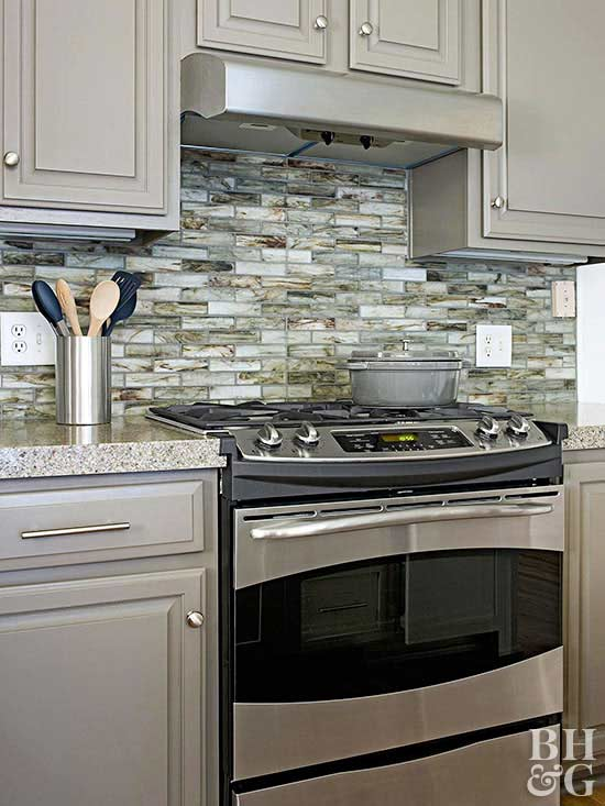 Kitchen backsplash ideas;   painting your kitchen cabinets